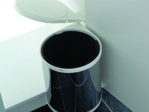 Automatic waste bin, 13 ltr, stainless steel